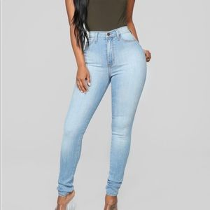 Pants - High Waisted Skinny Jeans